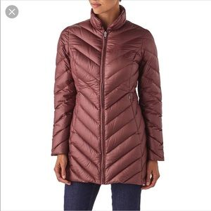 PATAGONIA - Burgundy Quilted Down Jacket